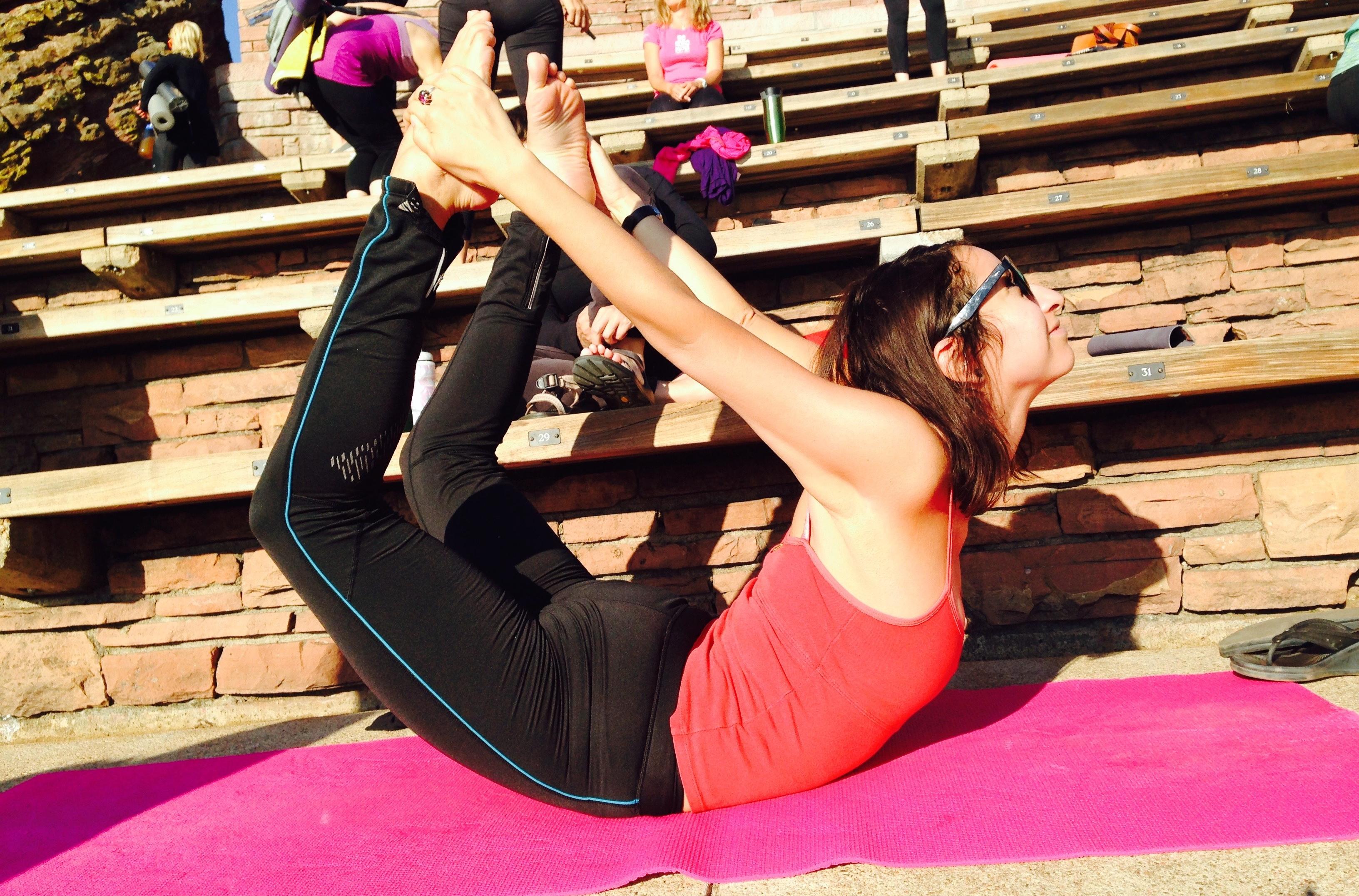 Bow pose yoga pose